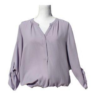 Maurices Sheer Purple Blouse